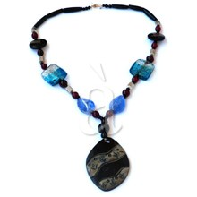 Turquoise Horn Shell Necklace