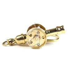 Solid Brass Nautical Cannon Key Chain