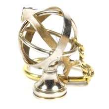 Brass Nautical Armillary Keychain