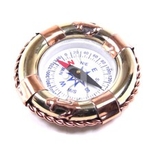 Brass Copper Nautical Compass Art piece