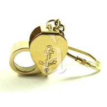 Brass Magnifier Keycahin Key Ring