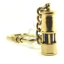 Solid Brass Nautical Lighthouse Keychain