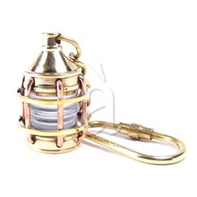 Nautical ships lantern lamp keychain