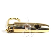 Marine Brass Whistle Keychain With Copper Anchor