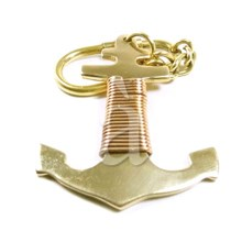 Marine Brass and Copper Anchor Keychain