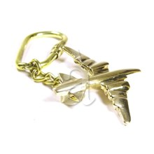 Solid Brass Airplane Keychain