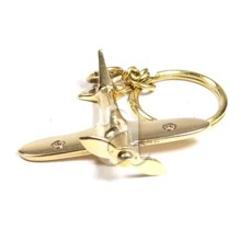 Spitfire fighter plane keychain