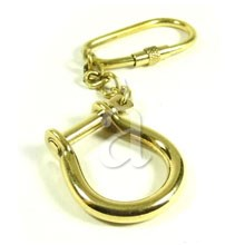 Solid Brass Marine Shackle Keychain