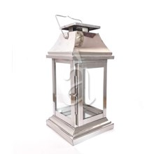 Durable Rectangular Stainless Steel Glass Lantern