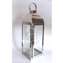 Beautiful Sturdy Stainless Steel Glass Lantern