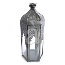 Black Antique Large Morroccan Styled Lantern