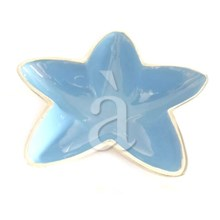 Star Fish Styled Recycled Aluminium Blue Enamel Multipurpose Dish