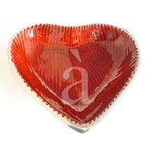 Reflecting Heart Recycled Aluminium Enamel Bowl