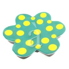 Kitchen Fashion-Disco Dots Recycled Aluminium Enamel Plate