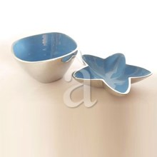 Traditional and Star Fish Styled Recycled Aluminium Enamel Bowl and Dish Set
