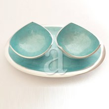 Recycled Aluminium Dishes, Snacks Bowl Set