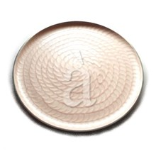 Aluminium Charger Plate, Service Plate, Larger Decorative Plate-Light Purple Enamle Finish