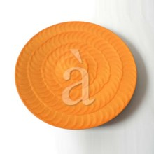 Aluminium Charger Plate, Service Plate, Larger Decorative Plate-Orange Enamle Finish