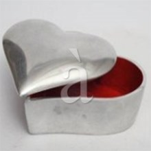 MY HEART  Aluminium Interior Enamel Inlay Heart Shaped Box