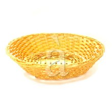 Traditional Kitchen Table Hand Woven Golden Basket