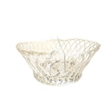 Hand Woven Bread Fruit Aluminium Basket