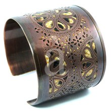 Antique Brass Cuff Bracelet