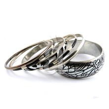 Handcrafted Zebra Bangle Bracelet Set