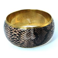 Handcrafted Alligator Bangle Bracelet