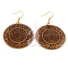 Brass Earrings  RADIAL