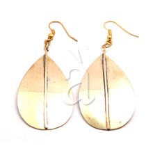 Brass Earrings LEAF